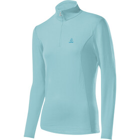 Löffler Basic Transtex Sweater met Rits met Opstaande Kraag Dames, angel blue